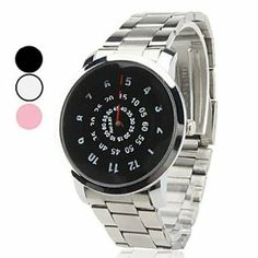 Tanboo Unisex Steel Analog Quartz Wrist Watch (Assorted Colors) by Tanboo. $8.99. Casual Watches. Women's, Men's Watche. Wrist Watches. Gender:Men's, Women'sMovement:QuartzDisplay:AnalogStyle:Wrist WatchesType:Casual WatchesBand Material:SteelBand Color:SilverCase Diameter Approx (cm):4Case Thickness Approx (cm):1Band Length Approx (cm):19Band Width Approx (cm):2.2