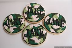 camo cookies - I should make these for Zach for his going away party and his welcome home party! @Alyssa Minniear