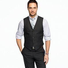 Suit vest in italian wool