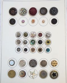 Star Button Lot Carded Mixed Materials Vtg Old Antique Star Buttons, Collector Cards, Old Antiques, Display Ideas, Personalized Items, Stars, Ebay, Trading Cards, Star