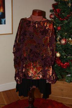 Beautiful silk devore velvet over-sized by Sassyandsustainable