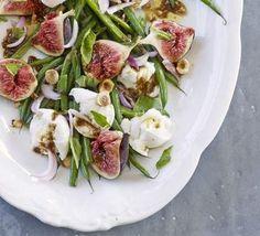 Fig and mozzarella salad
