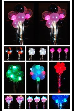 Party Dots in air filled balloon decor. Available at www.partydotsonline.com