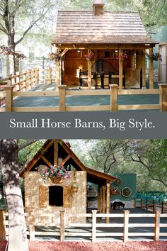 Style: Small Barns Big isn't always better, these small barns are packed with style and personality. Is your dream barn big or small?Big isn't always better, these small barns are packed with style and personality. Is your dream barn big or small? Dream Stables, Dream Barn, Horse Stables, Horse Farms, Small Horse Barns, Mini Barn, Mini Horse Barn, Miniature Horse Barn, Miniature Ponies
