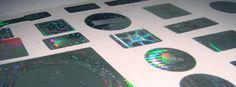 Selos Holografico e Void com impressão de 1x0 cor.A Partir de 500 unidades