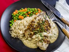 ... Crusted Tilapia Filet ~ w/ Herb Rice Pilaf, Creole Mustard Cream Sauce
