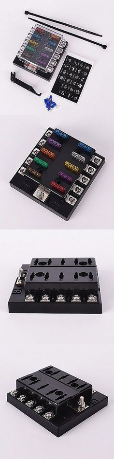 fuses and fuse holders qty 100 littelfuse fhac0002zxj fuses and fuse holders dc 32v 10 way terminals circuit car auto blade fuse box