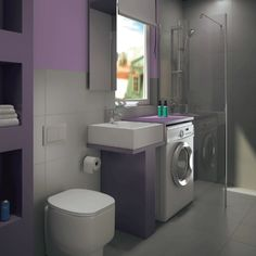 bagno con lavanderia