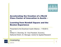 Accelerating the Creation of the Austin Innovation District - Lessons…