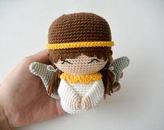 Crochet Christmas Angel, Pattern, PDF, English and Dutch