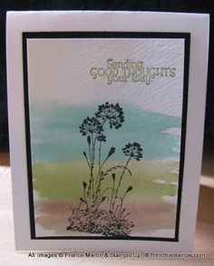 Stamp & Scrap with Frenchie: Serene Silhouettes with Watercolor wash background