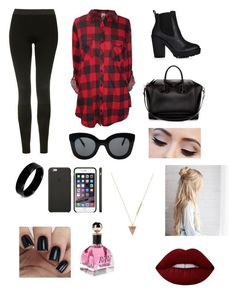 """""""Untitled #188"""" by emma-8bradley ❤ liked on Polyvore featuring Topshop, Givenchy, CÉLINE, West Coast Jewelry, Wolf Circus and Lime Crime"""