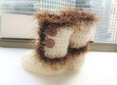 Baby Boots Crochet Pattern, Baby Crochet Pattern, Baby Booties Pattern, Furry Boots for Baby. $4.99, via Etsy.