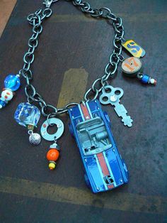 Road trip Necklace Speedy Six Triumph by VintagePie on Etsy, $89.00