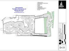 Disney Park Blueprints: The Many Adventures of Winnie the Pooh - Disneyland, CA, USA Disneyland Images, Disneyland Rides, Disney Rides, Vintage Disneyland, Disneyland Resort, Disney Princess Facts, Disney Fun Facts, Tigger And Pooh, Winnie The Pooh