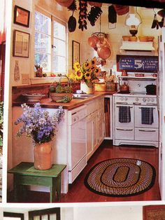 Love this Cambria cottage kitchen.