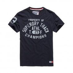 Superdry Trackster shirt heren truest navy #superdry @Superdryglobal #shirt #tshirt