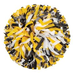 Getz Youth 3 Color Plastic Mix Poms - All Getz Poms are handcrafted in the USA from materials manufactured in the USA Width 6 Length 768 Strands Dowel Handle Poms are sold individually, not in pairs Getz Plastics Poms Pom-Poms Cheer