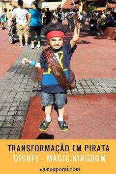As crianças adoram se fantasiar! Que tal levar seu pequeno para viver um dia de pirata. No Parque Magic Kingdom é possível fazer a Transformação no The Pirates League. Descubra tudo aqui.