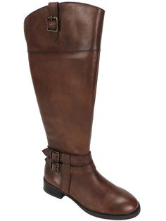INC International Concepts Women's Fahnee Wide Calf Riding Boots Leather 5.5 M #INCInternationalConcepts #AnkleBoots #Casual