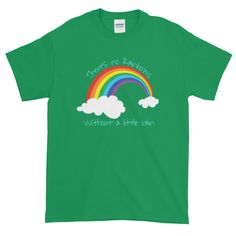 No Rainbows Without Rain - Mens Tee Teesy Peesy Mens Tees, Rainbows, Cotton Fabric, T Shirt, Tops, Fashion, Supreme T Shirt, Moda, Tee Shirt