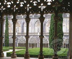 Cloister. Monastery of Batalha. Leiria. Portugal.