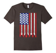 American Flag Guitarist T-Shirts - USA Band Tee Gift