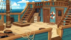 Background Paintings for 3-CISD by Kim Smith, via Behance