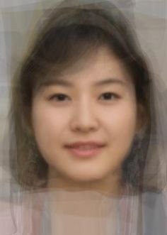 KoreanAverageWoman-Circular face with a wide nose and puffs under the eyes. Also smile lines