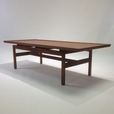 Mid Century Floating Top Coffee Table By Jens Risom-1960's Atomic Space Age Era. $750.00, via Etsy.