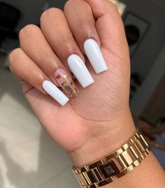 2020 comes,Coffin nail has always been the cool nail shape, which is popular with girls. Don't want to miss the 52 newest trendy coffin nails designs. Simple Acrylic Nails, Summer Acrylic Nails, Best Acrylic Nails, Long Square Acrylic Nails, Long Square Nails, Summer Nails, Polygel Nails, Gold Nails, Pointy Nails