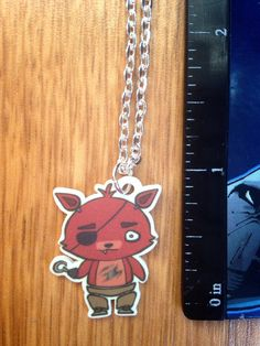 Five Nights at Freddy's Chibi Foxy Necklace by NerdsIllustrated