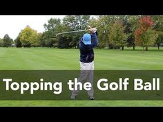 How to Stop Topping the Golf Ball | Golf Instruction | My Golf Tutor - YouTube