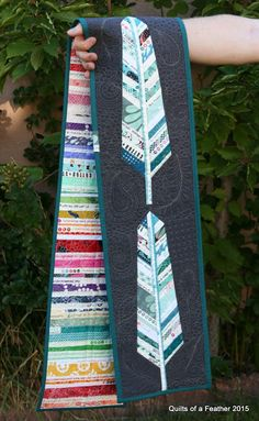 Selvage Feathers Quilt Runner   I finally finished this mini quilt, hurray! It was a slow summer project I worked on during the Selvage A...