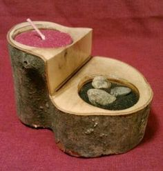 tree branch rustic candle holder mini/votive