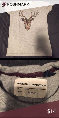French Connection Tshirt Deer Tshirt French Connection Shirts Tees - Short Sleeve