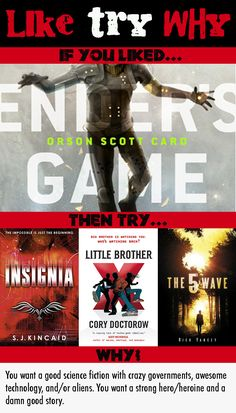 Like Try Why: Ender's Game by Orson Scott Card Shelf Talkers Anonymous... A good visual format for shelf talkers, though I think I may prefer something smaller.