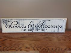 Wedding sign. Distressed wood.