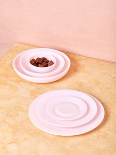 Pink Milk Glass Dinnerware – Coming Soon Pink Bowls, Pink Plates, Large Plates, Plates And Bowls, Pink Dishes, Pink Milk, Salad Dishes, Cute Kitchen, Milk Glass