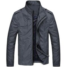 cb32b6bc03 Slim Trench Male Windbreaker Casual Outerwear Coats - wearGG Weather  Conditions