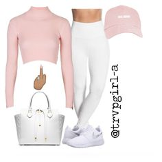 shes a goal digger by trvpgirl-a ❤ liked on Polyvore featuring Topshop, Michael Kors and NIKE