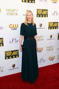 Cate Blanchett kept things simple in Lanvin at the Critics' Choice Awards.