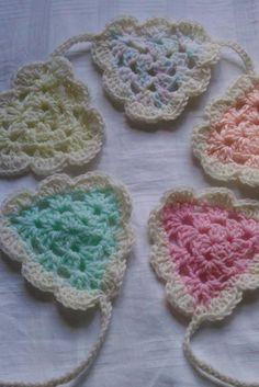 Beautiful Pastel Handmade Crochet Bunting by ImogensImaginarium