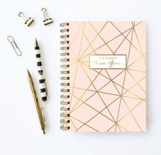 Personalized Planner | 2016 Planner | Weekly Planner | Choose Start Month | Gold Planner | Monthly Agenda | Customized Planner | 2016-2017 I'd want mine starting in March, font 4, in this color.