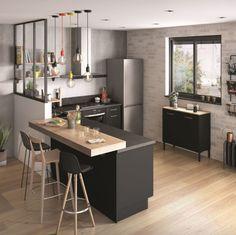 Cuisine ouverte avec bar: 18 idées d'aménagement Loft, Table Settings, New Homes, Furniture, Home Decor, Kitchen Tables, Organize, House Ideas, Decoration