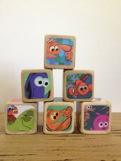 Just purchased these cute baby blocks! 30$ for the 6, a little expensive, but they're cute, and handmade.