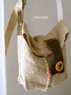 Handmade sewing bag - fabrickaz+idees
