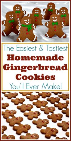 Cookies Recipe for Perfect Gingerbread Men! The easiest recipe for perfect gingerbread men and other cutout cookies!The easiest recipe for perfect gingerbread men and other cutout cookies! Christmas Sweets, Christmas Cooking, Noel Christmas, Christmas Goodies, Holiday Desserts, Christmas Candy, Holiday Baking, Holiday Treats, Holiday Recipes