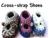 Baby Booties Crochet Pattern Cross Strap Shoes PDF 71 - CPB  - Ashton11 Crochet Patterns