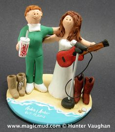 Lesbians on the Beach Wedding Cake Topper  ...what a pair of talented women this couple is.!!.. 1 is in the medical field while the other has a voice of velvet and musical skills galore....        $235#gay#lesbians#same_sex#2#women#2_women##beach#guitar#2_brides#wedding #cake #toppers  #custom #personalized  #bride #anniversary #birthday#wedding_cake_toppers#cake_toppers#figurine#gift